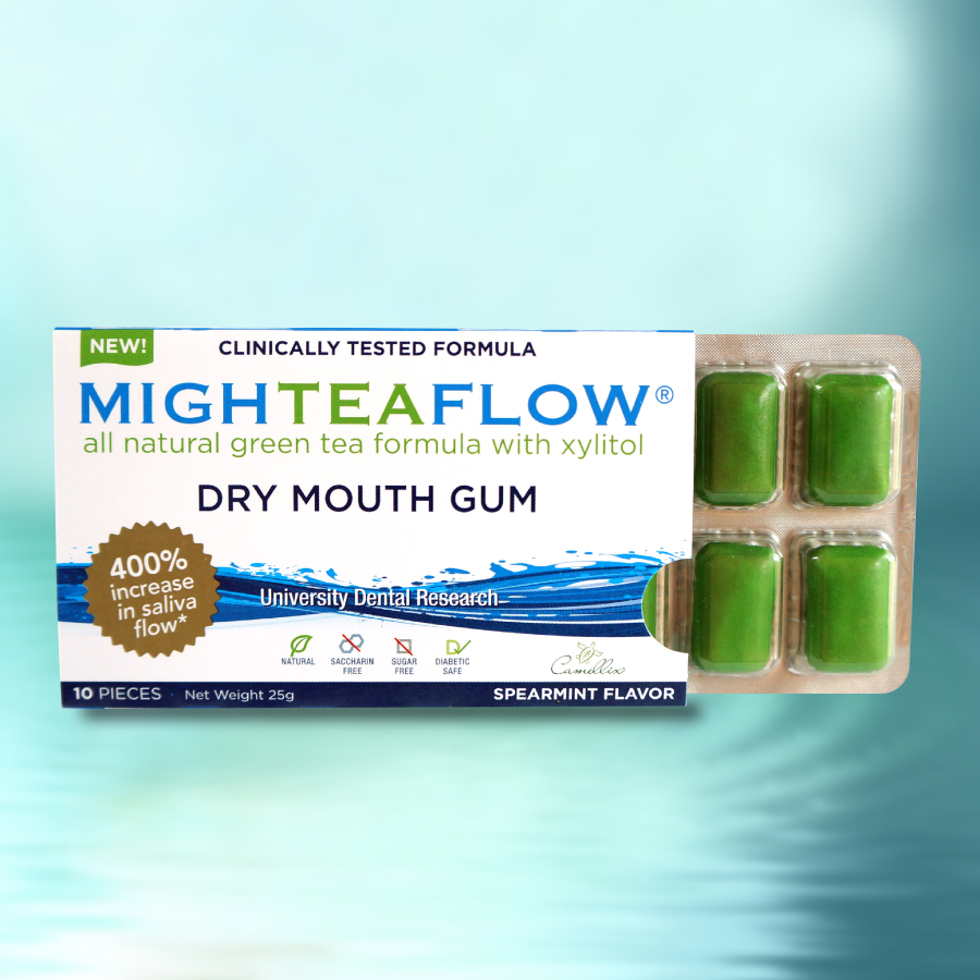 MighTeaFlow Dry Mouth Gum | Camellix
